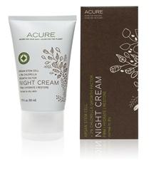 Acure Organics Night Cream: Night Cream: Argan Stem Cell + 2% Chlorella Growth Factor