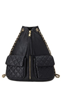 Chain Strap Zip-Front Backpack ($32.80)