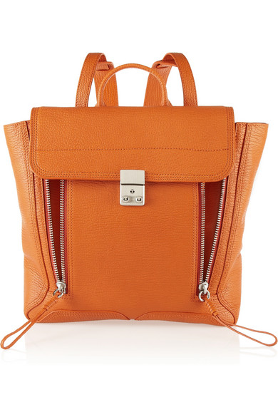 3.1 Phillip Lim The Pashli shark-effect leather backpack ($825)