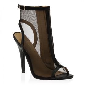 Lucille Mesh Heels in Black